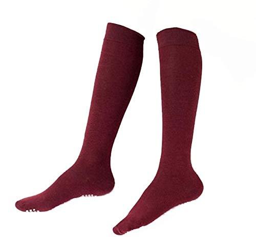 Women's Casual Stripe Knee High Socks Studded Medium Non Slip Sticky Stocking
