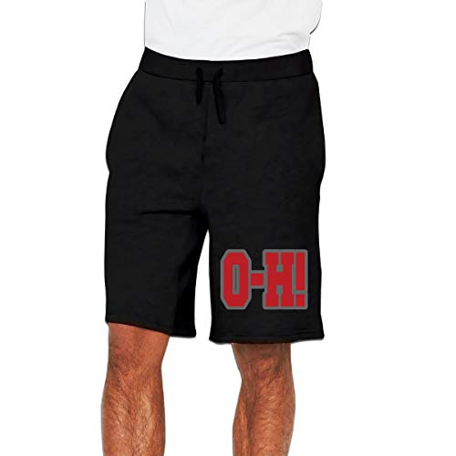 Ohio State O-H Mens Joggers Shorts Athletic Workout Shorts for Gym Fitness Sports XXL (Ohio Athletic Shorts)