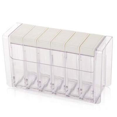 Herb & Spice Tools | 6Pcs / Set Spice Jar Set Seasoning Bottle Transparent Colorful Lid Kitchen Cruet Storage Pepper Box Storage Bottles & Jars | By ATUTI by ATUTI