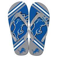 Detroit Lions 2013 Official NFL Unisex Flip Flop Beach Shoes Sandals slippers size Medium by FOREVER