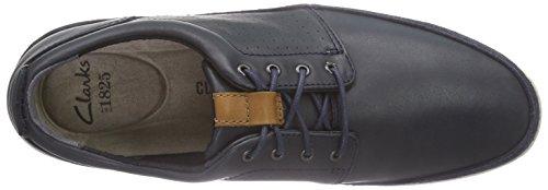 Clarks Polysport Edge - Zapatos de cordones oxford Hombre Azul (Blue Leather)