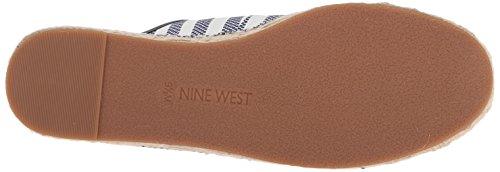 Negen West-vrouwen Gingerbred Stof Oxford Plat Donkerblauw-off Wit / Donkerblauw Weefsel