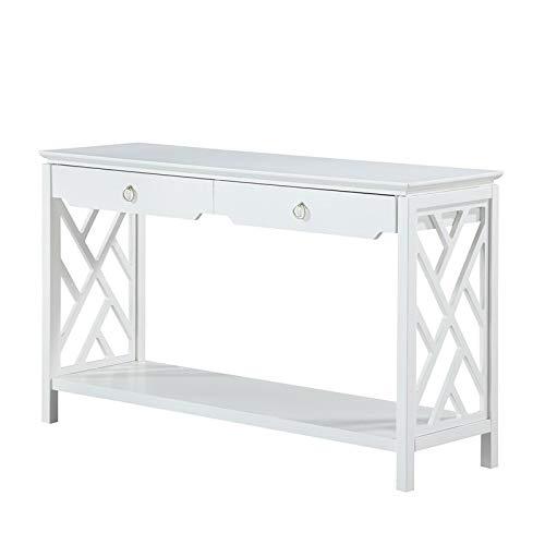 Comfort Pointe Thomas White Chippendale-Style Sofa Table (Thomas Sofa)