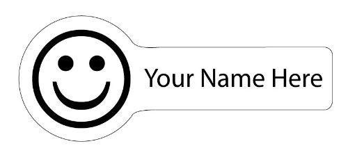 Nombre Etiquetas, diseño de caritas sonrientes, grandes iconos ...