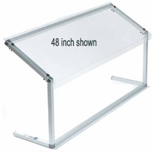 Carlisle 927207 Acrylic Adjustable Single-Sided Sneeze Guard with Aluminum Frame, 73.62 x 12.44'', Clear by Carlisle