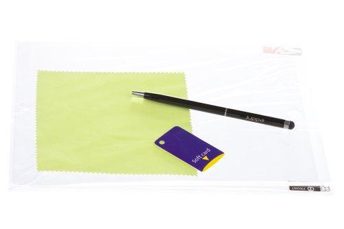 Juppa® Exécutif suède Finition Case Coque Intérieur en cuir comprend Film de Protection, Touch Screen Stylet Stylo et Courroie de transport pour Samsung Note 10.1 - Crème
