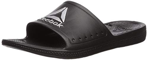 Reebok Athletic Sandals - Reebok Men's Men's Intencity Slide Sandal, Black/Silver, 13 D US