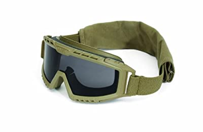 UVEX by Honeywell S0761D XMF Tactical Goggle, Desert Tan