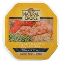 Nutro Natural Choice Slices in Gravy Adult Chicken and Brown Rice Entree Dog Food Tray 24/3.5-oz trays