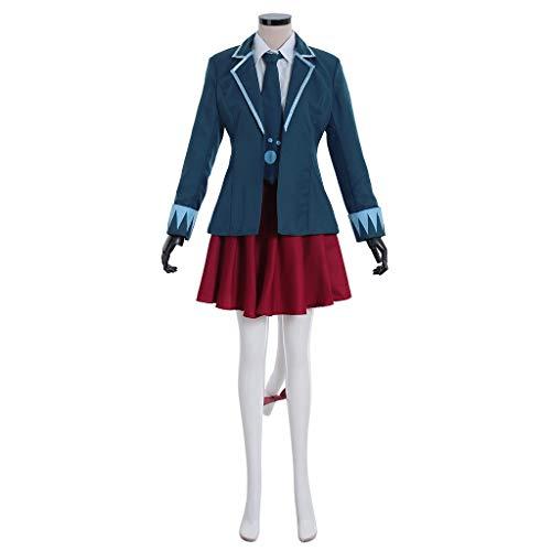 DUNHAO COS Women's Anime Fairy Tail Final Season Carla School Uniform Dress Suit Cosplay Costume L Blue ()