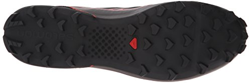 Salomon S-Lab Speed, Scarpe da Trail Running Unisex-Adulto Nero / Rosso (Black / Black / Racing Red)