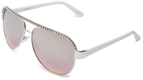 Rocawear R503 SLVWH Aviator Sunglasses,Silver & White,60 - Rocawear Glasses