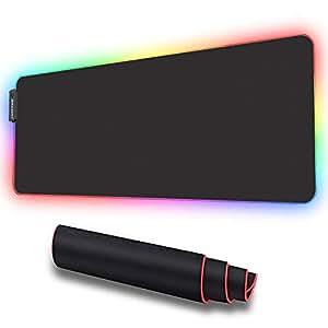 Amazon.com: Alfombrilla de ratón RGB suave para juegos ...