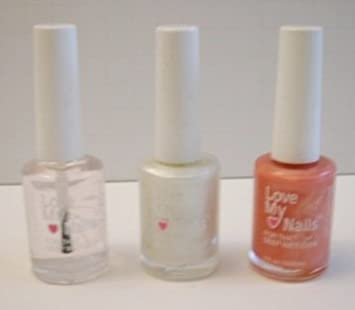 Amazon.com : Love My Nails Nail Polish Trio Set in Clear, Platinum ...