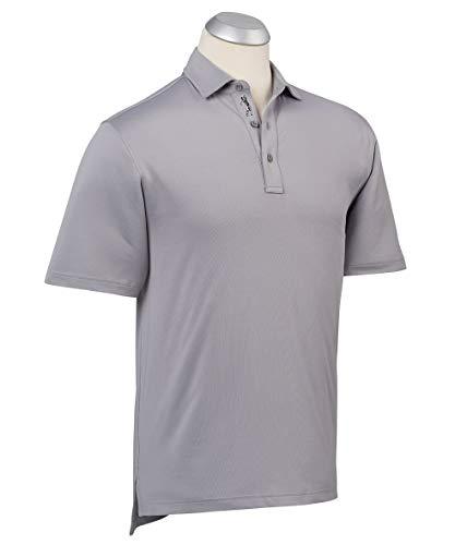 Bobby Jones Golf Apparel - Short Sleeve XH2O Performance Jersey Solid Polo Shirt for Men Graphite