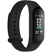 MI Band compaitble Upgraded M3 Plus Smart Activity Fitness Tracker Band with OLED Touch Display Long Battery Life and Heart Rate Monitoring by mobivax