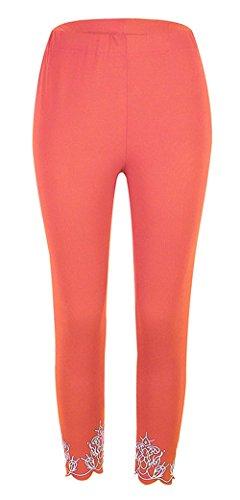 Skinny Elastica Tempo Pants Pantaloni Leggings Donna Eleganti Coulisse Arancia Damigella Libero Accogliente Pantalone Estivi Cintura Leggero qaxYxvI