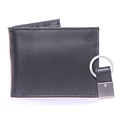 Calvin Klein 79349 Leather Passcase with Coin Pocket Key Fob Wallet Set