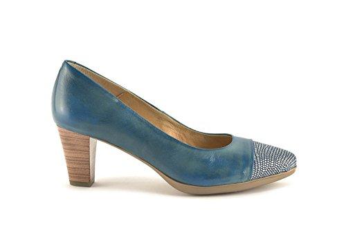 ConBuenPie by Desiree Shoes - modelo 1297 - Calzado de Piel estilo Casual para Mujer Colores Azul, Beige y Arena Azul