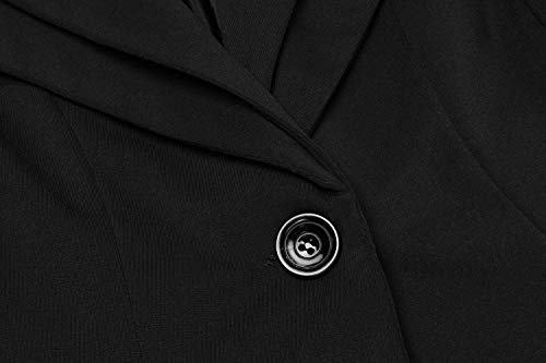 Comodo Pulsante Cappotto Giacca Eleganti Moda Primaverile Schwarz Da Autunno Manica Business Donna Blazer Colori Hipster Di Giacche Marca Fit Slim Tailleur Giaccone Solidi Mode Giovane Lunga ZqTxX