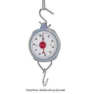 Escali H-Series Hanging Scale, High Capacity, 110lb x 8oz/50kg x 0.2kg, Stainless Steel, H11060, Lot of 1