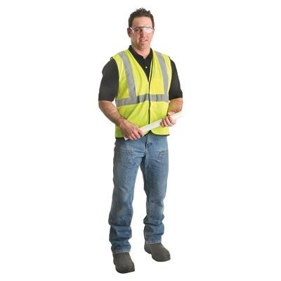 Lightweight Economy Safety Vest - Radnor Vest Reflective Class 2 Mesh Hi-Viz Yellow Small/ Medium Classic Economy Hook And Loop 2