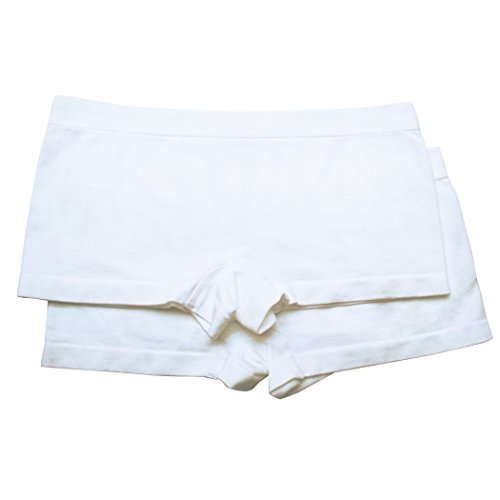 Bra Boyshorts Panty (Fruit of the Loom Big Girls' Seamless Boyshort, White/White, Small(Pack Of 2))