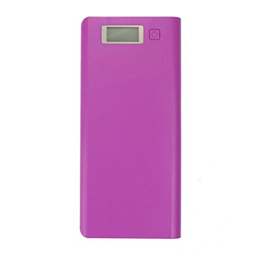 Yoyorule 5V 3A Dual USB 18650 Power Bank Battery Box Charger For iPhone 6 Plus S6 LG SONY NOKIA (Purple)