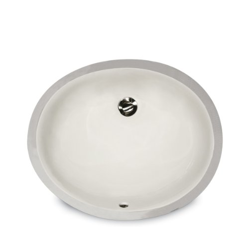 Nantucket Sinks UM-13x10-B 13-Inch  by 10-Inch  Oval Ceramic Undermount Vanity Sink, Bisque (Oval Vanity Sink)