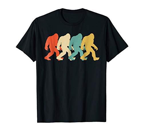 (Bigfoot Silhouette Retro Pop Art Sasquatch Graphic T-Shirt)