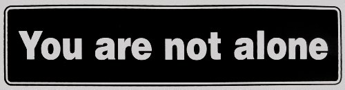 Inspirational Bumper Sticker, #St51, Color - Black & Silver, Size 11.5