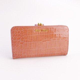 wholesale dealer 07f1b 9f421 Amazon   MIUMIU :ミュウミュウ 5M1120 新作 型押しクロコ ...
