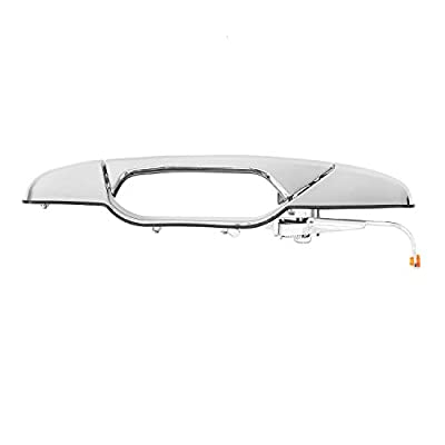 Exterior Chrome Door Handle Rear Right Passenger Side | for 2007-2013 Chevy Silverado Suburban Tahoe Avalanche, GMC Sierra Yukon, Cadillac Escalade | Replaces# 22738726, 25960522, 15915660, 80547: Automotive