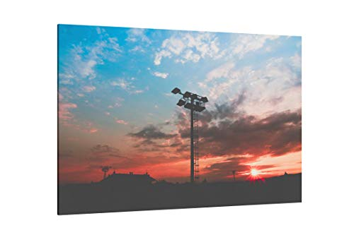 Black Light Tower During Sunset - Canvas Wall Art Gallery Wrapped 26