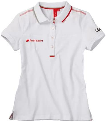 Audi 3131202114 Sport Polo para Mujer, Blanco, Talla L: Amazon.es ...