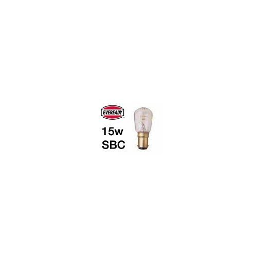 10x Eveready 15W Pygmy Bulb Appliance Lamp SBC(B15) -
