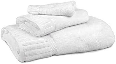 Circlet Egyptian Cotton White Towel Set Premium Bath Towels Hotel Quality Soft