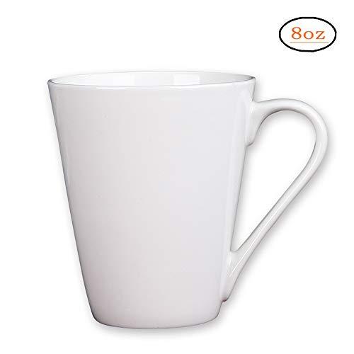 Coffee Mug Simple Pure White Large Ceramic Coffee Milk Cup Porcelain Mugs, (1 pcs white)