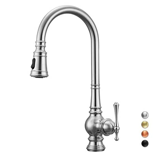 Kitchen Primy Kitchen Faucets with Pull Down Sprayer Modern Heavy Duty Lead-Free Single Handle High-Arc Kitchen Sink Faucet With… modern sink faucets