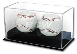 BCW 1-AD12-2 Acrylic Double Baseball Display