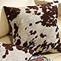 Must Have Decorative Accent Throw Toss Cow Hide Print Pillows Set Of 2 Will Certainly Accessorize Your Living Or Bedroom Furniture Add Decor To Your Area Rug Lamps Bedding Or Curtains N