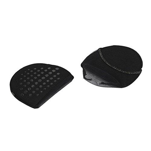 1 Par De Antepié Invisible Zapatos De Tacón Alto Antideslizante Medias Almohadillas De Jardín Negro #