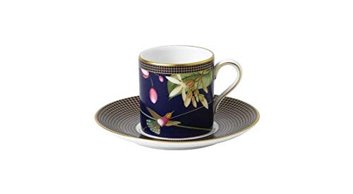 Wedgwood Espresso Cups - Wedgwood Hummingbird Collection Espresso Cup and Saucer
