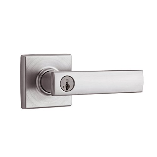 Chrome Commercial Single Handle - Kwikset Vedani Entry Lever featuring SmartKey in Satin Chrome