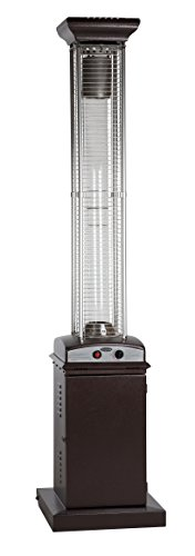 Fire Sense 62224 Hammered Bronze Finish Square Flame Patio Heater (Heaters Do Work Patio)