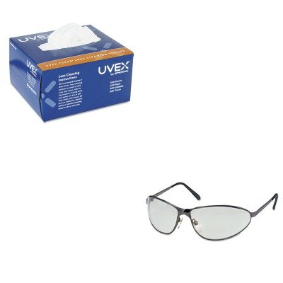 Towelettes Uvex Lens Cleaning - KITUVXS2451UVXS468 - Value Kit - Uvex Tomcat Safety Glasses (UVXS2451) and Uvex Lens Cleaning Moistened Towelettes (UVXS468)