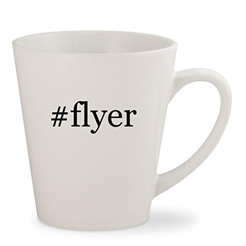 #flyer - White Hashtag 12oz Ceramic Latte Mug Cup