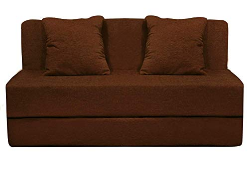 Urban Decor Sofa Cums Bed Furniture Two Seater 3x6 Feet Brown Color