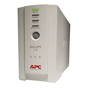 APC BK350 350VA UPS System 2 Output power capacity: 350VA / 210W Typical backup time at full load: 4.7MIN (210W) Typical backup time at half load: 18.1MIN (105W)