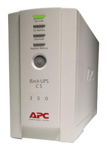 APC BK350 350VA UPS System,White 1 Output power capacity: 350VA / 210W Typical backup time at full load: 4.7MIN (210W) Typical backup time at half load: 18.1MIN (105W)